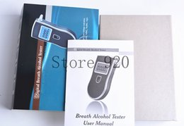 Wholesale 2016 NEW Hot selling Prefessional Police Digital Breath Alcohol Tester Breathalyzer Freeshipping by DHL