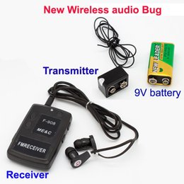 Wholesale Hot Wireless Bug Covert RF FM Audio Spy Kit Listening Device Easy Operation