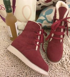 Wholesale 2014 new winter snow boots women warm fur a system with stylish casual flat with short boots