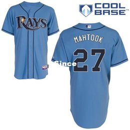 Wholesale 30 Teams Tampa Bay Rays Mikie Mahtook Authentic Baseball Jerseys Embroidery stitched onfield US Sport Shirt Home Color Top Quality