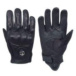 Wholesale The best sale to you for Goatskin on road leather motorcycle riding gloves with Icons Pursuit Glove Perforated
