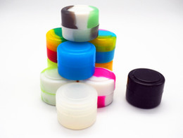 500pcs lot new slick Non-stick small round wax extract BHO silicone concentrate oil container - various colors