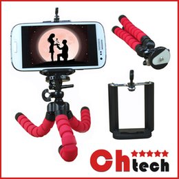 Wholesale Car Phone Holder Flexible Octopus Tripod Bracket Selfie Stand Mount Monopod for iPhone Samsung LG Android pau gopro