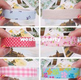1000pcs amende bande Papeterie Washi Masking bricolage Tissu Grille Autocollants Papeterie créative style japonais Post Colorful mignon à partir de washi bande de tissu fournisseurs