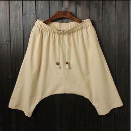 Wholesale summer big crotch pants male Korean men s pants hanging files harem pants low tide male feet pants big yards ac