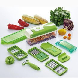 Wholesale 12 Set Nicer Dicer Plus Vegetable Fruit Multi Grater Peeler Cutter Chopper Slicer Precision Cutting Kitchen Cooking Tools