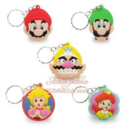 Vente Promotions 50pcs / set Super Mario Jeu chaud NOUVEAU Cartoon clés clés Anneaux Anime Poupée PVC Figurines classiques jouets pour enfants à partir de classique pour les jeux d'enfants fabricateur