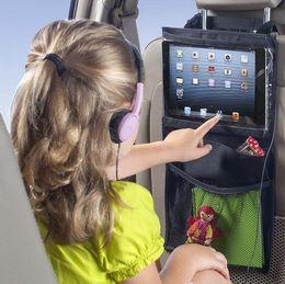 Wholesale Cars Bags Mummy - Auto Back Car Seat Organizer Holder Multi-Pocket Travel Storage Hanging Tablet PCs Mummy bags baby car seat ipad hanging bag