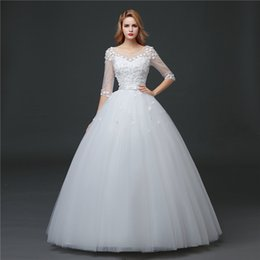 Shanghai Story Jewel Tulle Wedding Dress Flower Appliques Backless Wedding Gowns 2017
