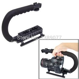 C Flash de forme Support de support Poignée vidéo Poignée de stabilisateur pour DSLR SLR Appareil photo Caméra Go Pro AEE Mini DV Go pro à partir de dslr video pro fabricateur