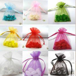 "Wholesale-Organza Drawstring Gift Bags 10cmx15cm (4""x6"") Necklace Bangle Bracelet Jewelry Pouches Fashion Wedding Candy Favors"