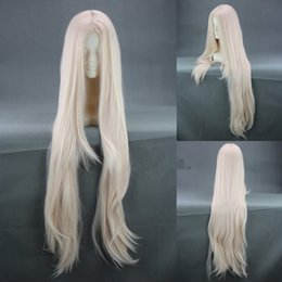 Wholesale Fate Zero Irisviel von Einzbern Cos Wig Mixed White Straight Long cm Synthetic Hair