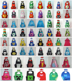 Wholesale 101 Styles Pikachu Pocket Monster Double Size Halloween Capes and Mask TMNT capes mask set Cinderella for Kids CM Free Ship DHL