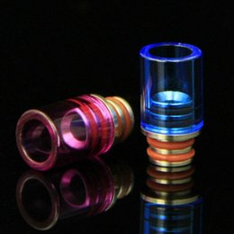 New Glass Drips 510 Drip Tip E Cigarettes Glass Drip Tip Stainless Steel Drip Tip with Stainless Steel Wide Bore Atomizer Mouthpieces ecigs