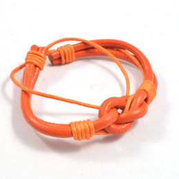 NEW Jewelry Fashion Charm Bracelet Leather Cord Wristband