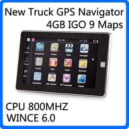 Wholesale 5 inch Car GPS Navigation Truck Navigator Key GPS Media Player FM G Maps WinCE Global Positioning System