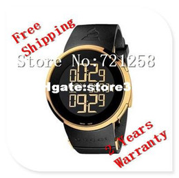 Wholesale 2014 Absolute luxury New Special Edition Digital Analogue Gold Case Black Rubber Men s Watch YA114215 Ditital Wristwatch no