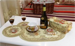 Wholesale 2015 Placemats for Table Crochet Doilies Paper Eco friendly Fashion Mat Fabric Cup Pad Bowl Disc Pads Heat Insulation Table Mats