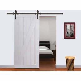 Wholesale 8 FT Black arrow Modern European Steel Wood Sliding Barn Door Track Hardware Set Single Door kit