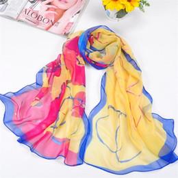 Descuento mejores bufandas de moda 2016 Moda Chinoiserie bufanda señora Girl Impreso Bufandas Círculo de lavado Pintura bufandas mejor regalo 123 Patrón