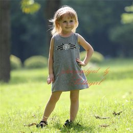 Pettigirl Fashion Cotton Girls Dresses A-Line Solid Kids Vestido With Diaomend Wholesale Toddler Girl Clothes GD80801-02L