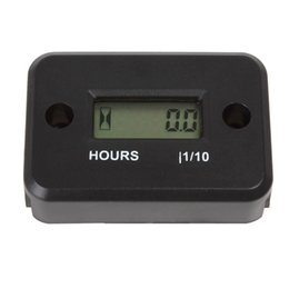 Wholesale 2015 New car LCD Display Waterproof Inductive Tach Hour Meter for Marine ATV Motorcycle