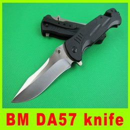 2014 new 440C BM DA57 knife Fold blade knfie Outdoor survival folding knife Tactical knives EDC pocket knife knives gift 345L