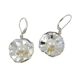 Vintage Handmade Silver Chandelier Earrings White Color Best Dangle Earrings for Summer Party Discount Pearl Earrings E5932
