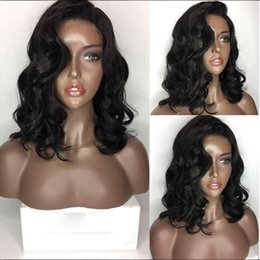 9A Pre Plucked Human Hair Bob Wigs For Black Women Loose Wave Virgin Lace Front Wigs Brazilian Full Lace Wig With Baby Hair