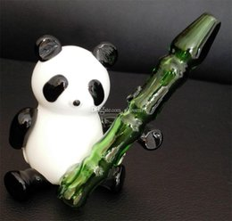 Wholesale Cheap smoking pipes Best Design Glass Smoking Pipes Glass Water Pipes Panda Shape cm high quality