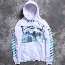 fashion brand men kanye west off white Virgil Abloh pyrex hoodie flannel clothing wave print religion hoody Sweatshirt Moletom