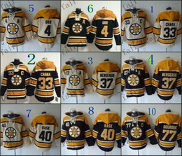 Wholesale Boston Bruins Bobby Orr zdeno chara patrice bergeron Cheap Hockey Hooded Stitched Old Time Hoodies Sweatshirt Jerseys