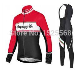 Wholesale-cycling winter!! 2015 Campanoylo cycling jersey winter women and bib pants kit wome winter cycling clothing winter bike clothing