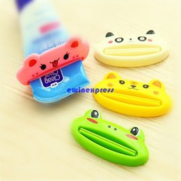 Wholesale 20pcs Cute animal design Toothpaste Dispenser Toothpaste Tube Squeezer Easy Squeeze Paste Tube Rolling Holder