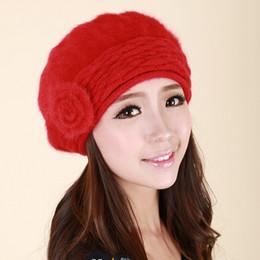 Wholesale-Women Beret Cap,Russian Style Autumn&Winter Vintage Solid Colors Soft Felt cony hair Beanie Hat, Ladies Fashion Classic Berets