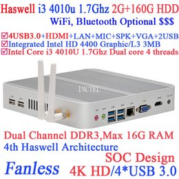 Wholesale Haswell Architecture I3 u minipc with Intel Core i3 U Ghz CPU SOC design K HD support G RAM G HDD windows linux