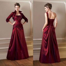 Wholesale New Design Brilliant Mother Of The Bride Dresses One Shoulder Crystal Mother s Dress With Jack Applique Beads Mother s Formal Wears