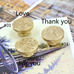 Wholesale-unique desigh retro metal sealing wax seal Blessings Love For you Thank you for wholesale and free shipping