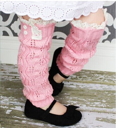 2015 Girls lacey knit leg warmers Crochet lace trim legwarmers baby Boot Cuffs cover socks #3724