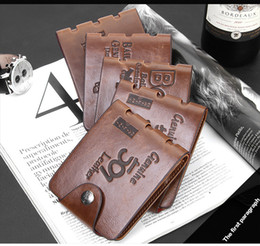 2017 portefeuille de cartes de poche Hot Sale Portefeuilles Marque nouveaux hommes de haute qualité en cuir Wallet Card Pockets Clutch Cente Bifold Purse rétro en cuir courte Purse Free Ship hommes portefeuille de cartes de poche à vendre