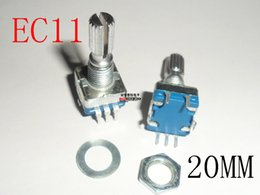 Wholesale Rotary encoder code switch EC11 audio digital potentiometer with switch Pin handle length mm original