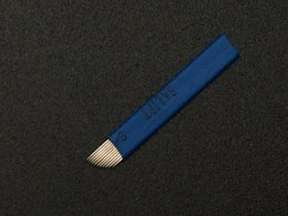 Wholesale-100PCS 11-Pin Permanent Makeup Manual Eyebrow Tattoo 11 Needles Blade For Tattoo Machine Microblading Pen Embroidery