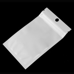 12*20cm Clear + white pearl Plastic Poly OPP packing zipper Zip lock Retail Packages Jewelry food PVC plastic bag 10*18cm 12*15cm 7.5*12cm