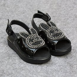 Wholesale New Hot Children s Sandals Summer Shoes For Girls Soft Sole Princess Shoes Dabber Rhinestone Peep Toes Sand alias