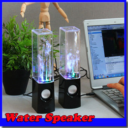Wholesale Hot Dancing Water Speaker Music Audio MM Player for Iphone LED Light in USB mini Colorful Water drop Show for Laptop