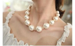 hot sale Wholesales designer jewelry big pearl necklace fashion Beaded CZ diamond Necklaces jewellery, free shipping