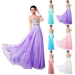 Wholesale Sparkle Prom Dress Stock - 2015 New Chiffon Prom Dresses Sweetheart Beaded Crystal Sparkle Backless Floor Length Cheap In Stock Real Image Party Evening Gowns SY007