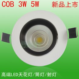 Wholesale Upscale COB Downlight LED Downlight W high brightness downlights downlight manufacturers grilled white paint shop