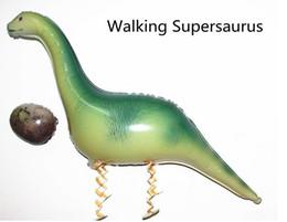 Wholesale SMILE MARKET New Irregular green foil USA walking Dinosaur Balloons