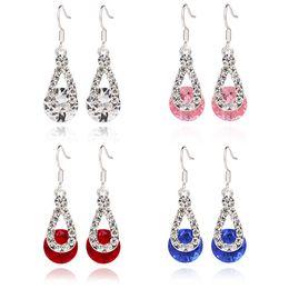 Earrings Crystal Drop Earrings Hot Sale Silver Dangle Chandelier Earring For Women Girl Party Fashion Jewelry Wholesale Free Shipping 0271WH